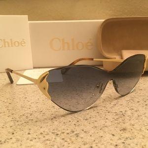 Chloe Rimless Gold Sunglasses